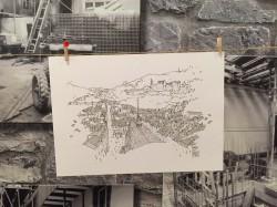 Croquis et Crémant.02 Patrice Rambaud skizziert das Heidelberger Schloss